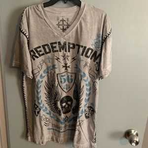 Raw And State By Affliction T-shirt